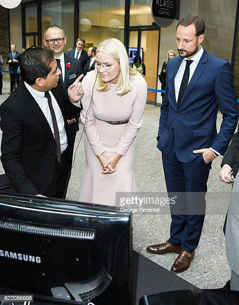 His Royal Highness Crown Prince Haakon and Her Royal Highness Crown Princess MetteMarit attend MaRS Centre Fram Medtech and Startup Initiative during...