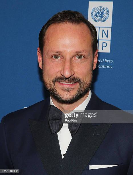 His Royal Highness Crown Prince Haakon of Norway attends 2016 United Nations Development Programme Global Goals Gala at Phillips on December 5 2016...