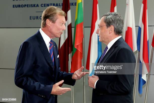 His Royal Highness Grand Duke Henri of Luxembourg meets with ECB President Mario Draghi on September 19 2017 in Frankfurt am Main Germany