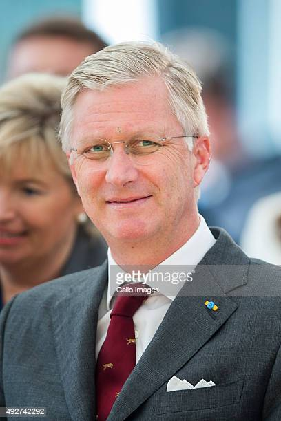 His Royal Highness Philippe King Of Belgium visits the Forest Education Center on October 14 2015 in Warsaw Poland During the visit TRH planted...