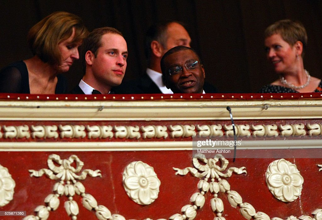 His Royal Highness the Duke of Cambridge enjoys the tennis at the Royal Albert Hall 2012