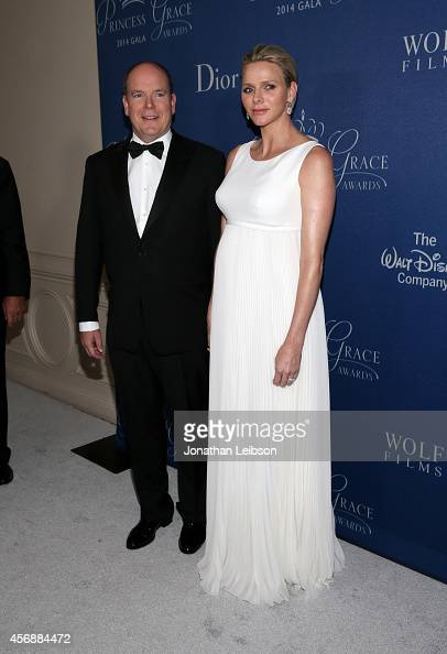 His Serene Highness Prince Albert II of Monaco and Her Serene Highness Princess Charlene of Monaco attend the 2014 Princess Grace Awards Gala with...