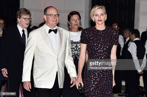 His Serene Highness Prince Albert II of Monaco Her Serene Highness Princess Charlene of Monaco 2015 Princess Grace Awards Gala Honorees Robert...