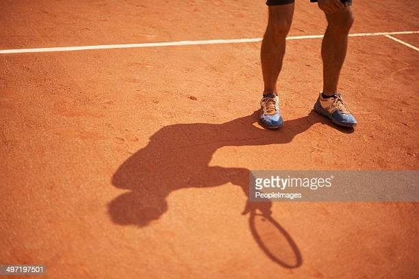 His shadow is a permanent feature of the court