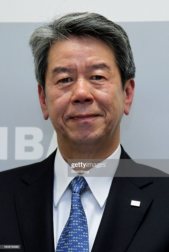 <a gi-track='captionPersonalityLinkClicked' href=/galleries/search?phrase=Hisao+Tanaka&family=editorial&specificpeople=10514426 ng-click='$event.stopPropagation()'>Hisao Tanaka</a>, corporate senior executive vice president of Toshiba Corp., attends a news conference in Tokyo, Japan, on Tuesday, Feb. 26, 2013. Toshiba, the Japanese maker of flash-memory chips, elevators and nuclear reactors, said Tanaka will take over as president in June as it tries to bolster growth from energy and chip operations. Photographer: Junko Kimura/Bloomberg via Getty Images