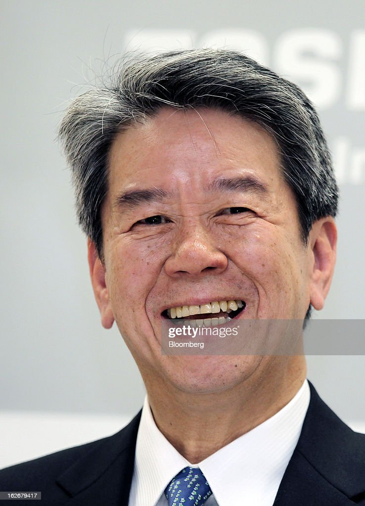Hisao Tanaka, corporate senior executive vice president of Toshiba Corp., reacts during a news conference in Tokyo, Japan, on Tuesday, Feb. 26, 2013. Toshiba, the Japanese maker of flash-memory chips, elevators and nuclear reactors, said Tanaka will take over as president in June as it tries to bolster growth from energy and chip operations. Photographer: Junko Kimura/Bloomberg via Getty Images