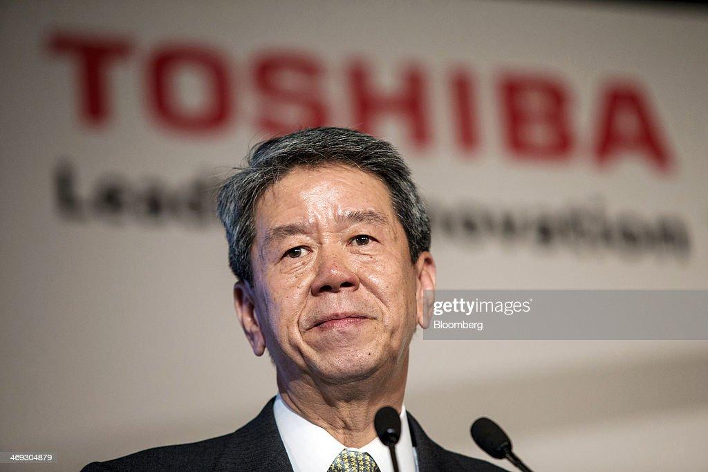 Toshiba Corp. President and CEO Hisao Tanaka Press Conference