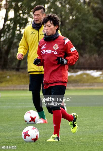 Hisato Sato of Nagoya Grampus in action during a training session at Toyota Sports Center on January 16 2017 in Toyota Aichi Japan