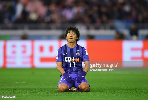 Hisato Sato of Sanfrecce Hiroshima during the FIFA Club World Cup 3rd Place Match between Sanfrecce Hiroshima and Guangzhou Evergrande FC at...