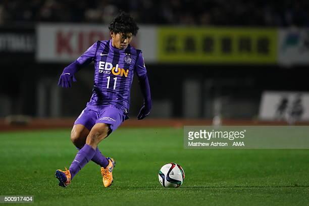 Hisato Sato of Sanfrecce Hiroshima during the JLeague 2015 Championship final 2nd leg match between Sanfrecce Hiroshima and Gamba Osaka at the Edion...