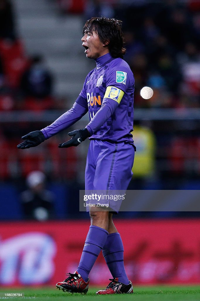 Hisato Sato of Sanfrecce Hiroshima looks dejected during the FIFA Club World Cup Quarter Final match between Sanfrecce Hiroshima and Al-Ahly SC at Toyota Stadium on December 9, 2012 in Toyota, Japan.