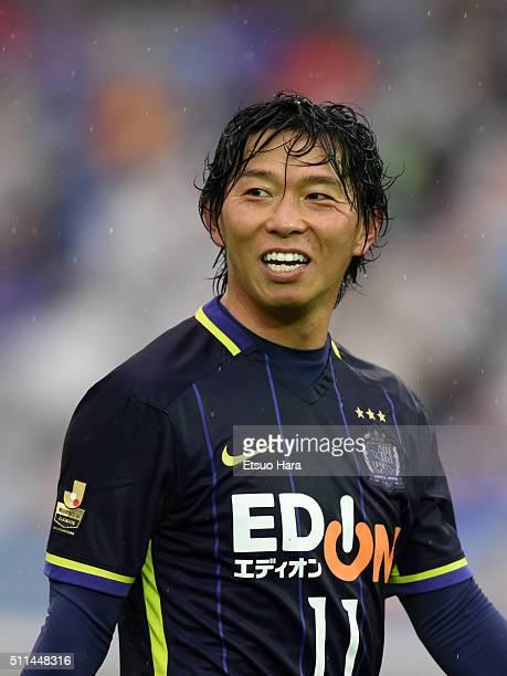 Hisato Sato of Sanfrecce Hiroshima looks on during the FUJI XEROX SUPER CUP 2016 match between Sanfrecce Hiroshima and Gamba Osaka at Nissan Stadium...