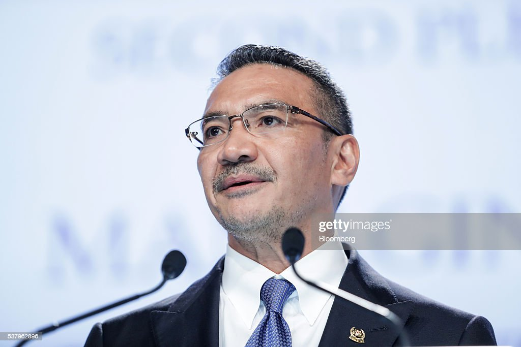 <a gi-track='captionPersonalityLinkClicked' href=/galleries/search?phrase=Hishammuddin+Hussein&family=editorial&specificpeople=774002 ng-click='$event.stopPropagation()'>Hishammuddin Hussein</a>, Malaysia's defense minister, speaks during the IISS Shangri-La Dialogue Asia Security Summit in Singapore, on Saturday, June 4, 2016. The annual Shangri-La Dialogue brings together ministers alongside heads of military, and has become a lightning rod for tensions over China's military buildup in the South China Sea, one of the world's busiest shipping lanes. Photographer: Nicky Loh/Bloomberg via Getty Images