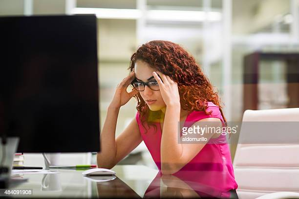 Hispanic business looking stressed