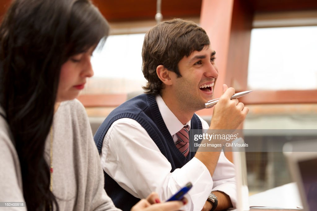 Hispanic business people in meeting : Stock Photo