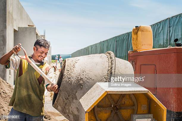 Hispanic construction worker at construction site