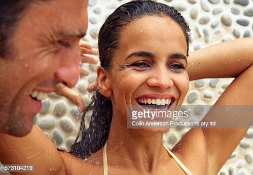 Image result for showering couple