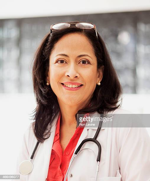 Hispanic doctor in clinic, portrait