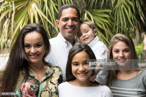 hispanic family of five