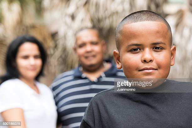 Hispanic family (real people)