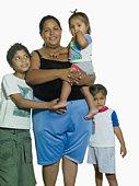A hispanic family portrait
