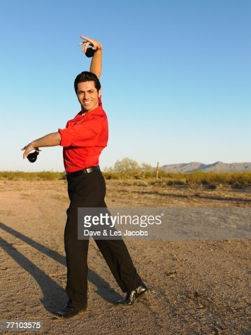 Hispanic male flamenco dancer posing : Stock Photo