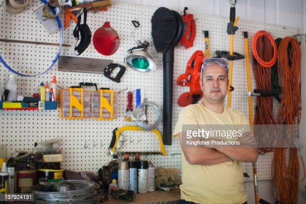 Hispanic man in workshop