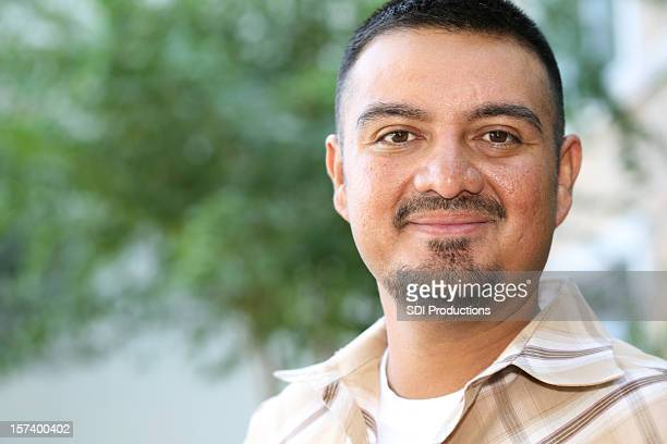 Hispanic Man Proud And Handsome with Copy Space