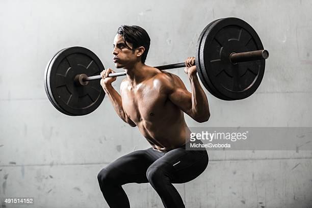 Hispanic Man Strength Training