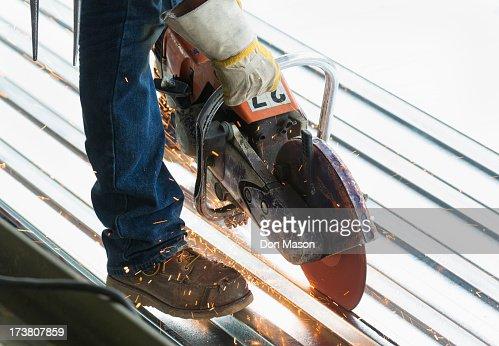 Hispanic man working at construction site