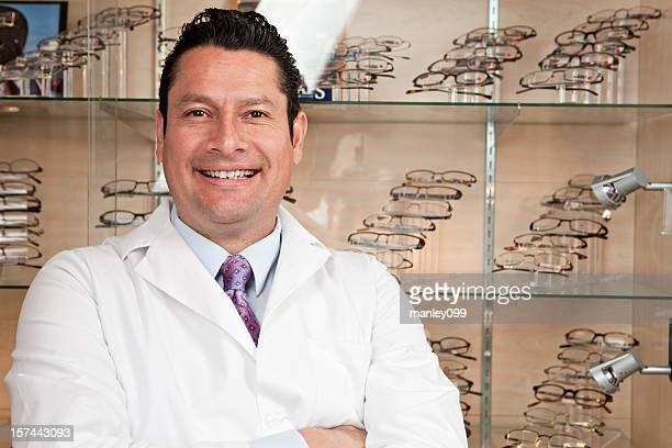 hispanic optometrist smiling