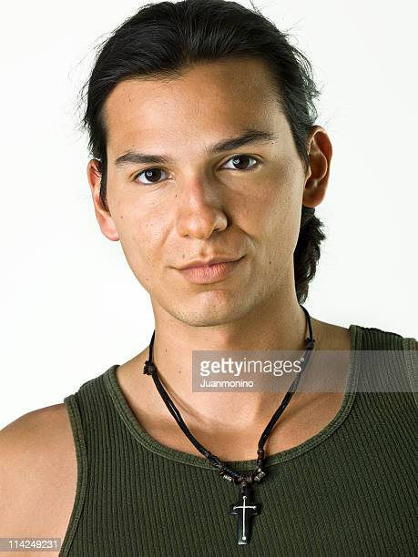 Hispanic or Native american male model
