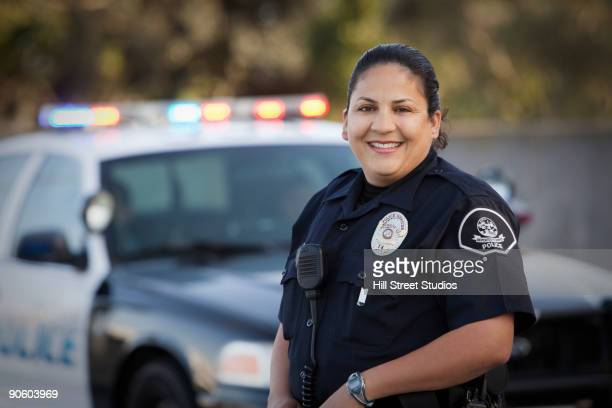 Hispanic policewoman