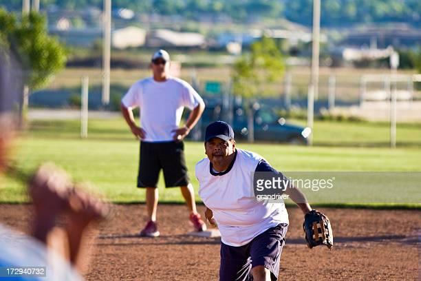 Hispanic Softball Pitcher