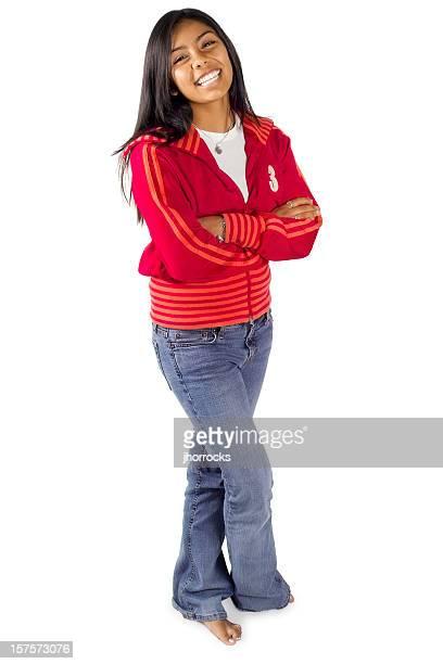 Hispanic Teen in Red