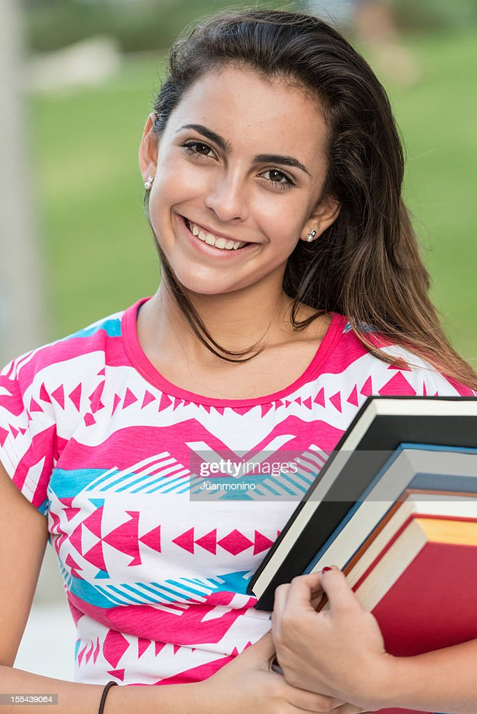 Hispanic Teenage Girl Stock Photo
