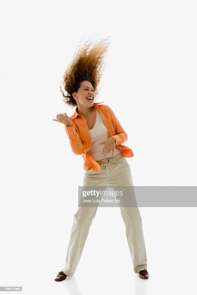 Hispanic woman dancing