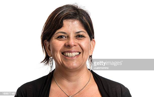 Hispanic woman smiling