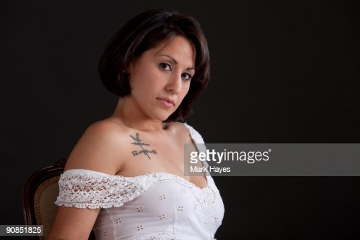 Hispanic Young Woman : Stock Photo