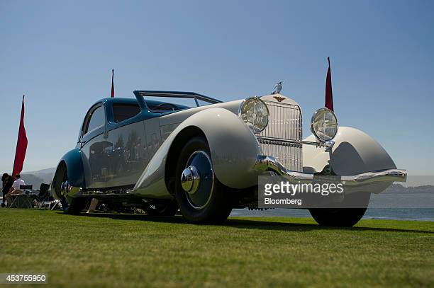 HispanoSuiza K6 Fernandez et Darrin Coupe Chauffeur sits on display during the 2014 Pebble Beach Concours d'Elegance in Pebble Beach California US on...