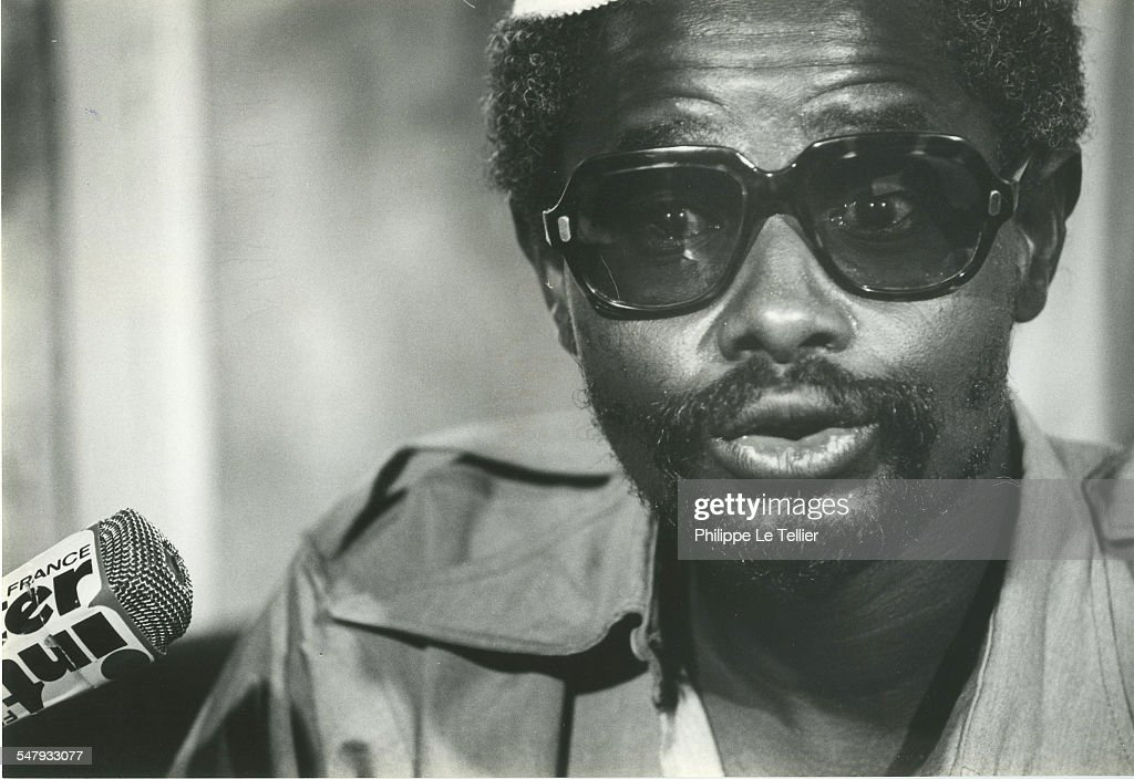 Hissène Habré at a press conference N'Djamena during his 1982 coup d'etat, Chad,4th June 1982.