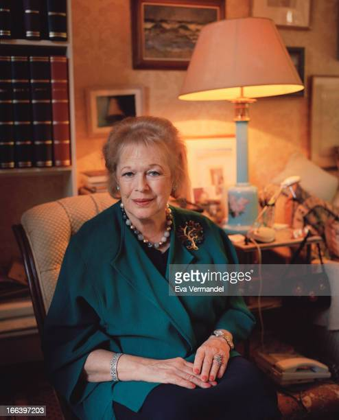 Historian and writer Lady Antonia Fraser is photographed for the Times on October 8 2012 in London England