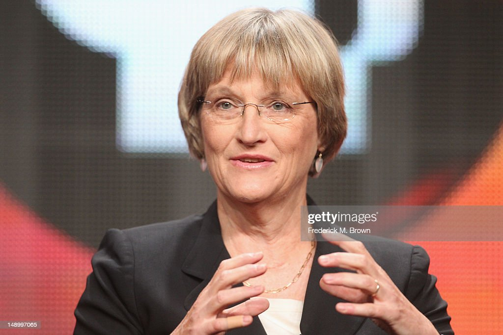 Historian Drew Gilpin Faust speaks onstage at the American Experience 'Death and the Civil War' panel during day 1 of the PBS portion of the 2012 Summer TCA Tour held at the Beverly Hilton Hotel on July 21, 2012 in Beverly Hills, California.