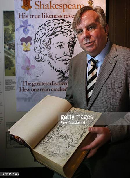 Historian Mark Griffiths holds a copy of The Herball book that contains what is thought to be the first authenticated living portrait of William...