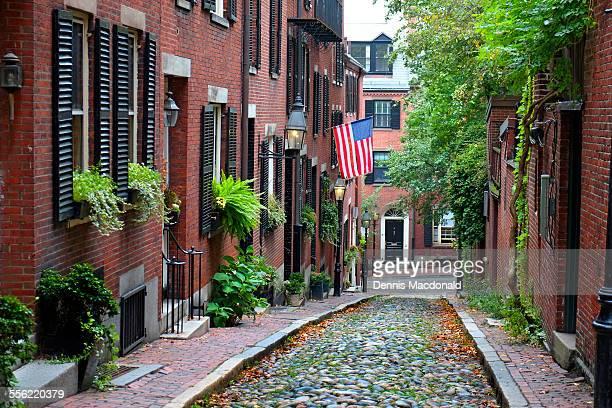 Historic Acorn Street on Beacon Hill