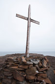 Historic Arctic whaler's grave marked by cross