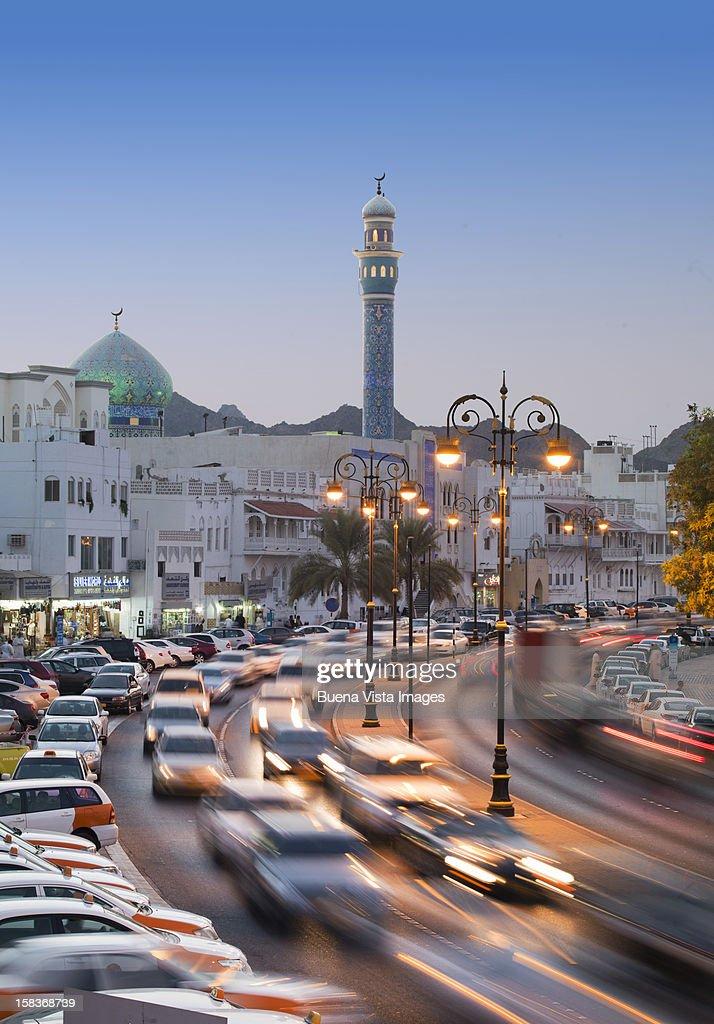 Historic building facades with Ala Lawatiy mosque