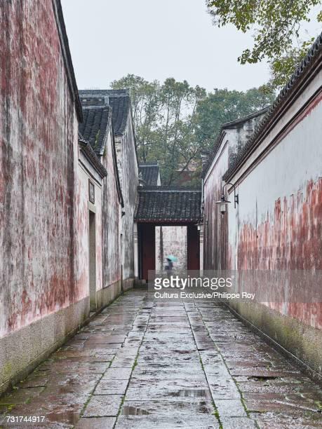 Historic buildings and alleyway, Ningbo, Zhejiang, China