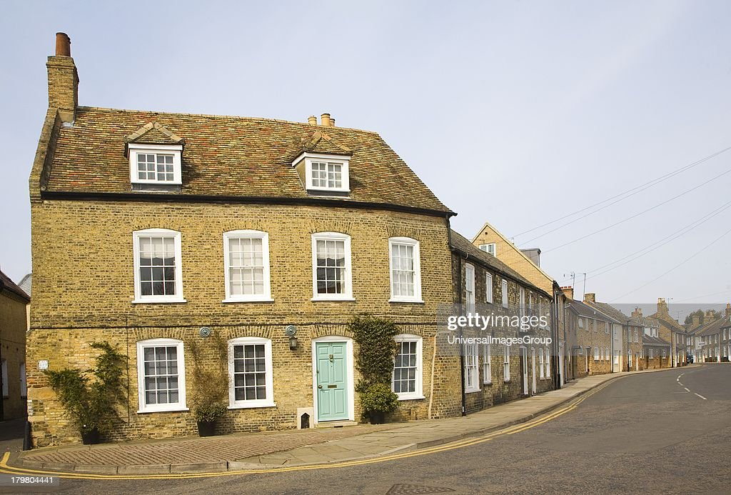 Historic buildings on Waterside Ely Cambridgeshire England