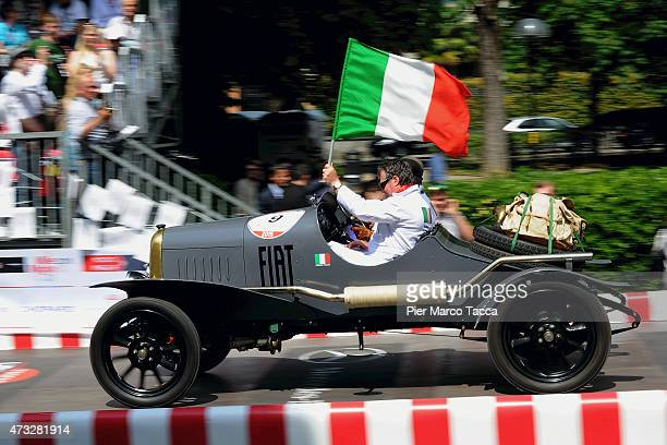A historic car of 1922 FIAT 500 S at the start of the Mille Miglia historic road race at Brescia on May 14 2015 in Brescia Italy